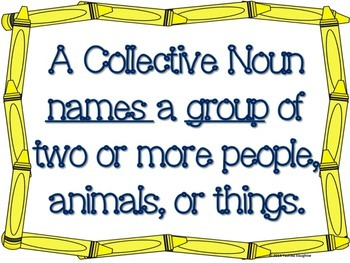 Back to School Language Review: Collective Nouns Scoot