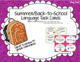 Back to School Language Task Cards