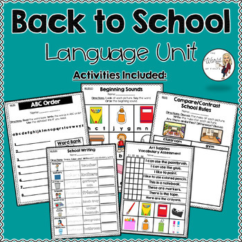 Back to School Language Unit