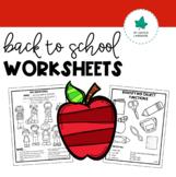 Receptive & Expressive Language Worksheets: Back to School