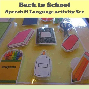 Back to School Speech and Language Activity Set