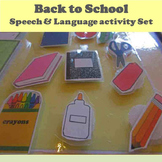 Back to School Speech and Language Activity Set
