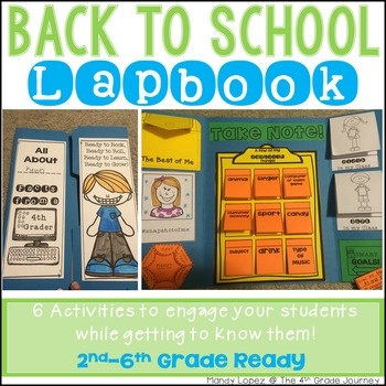 Back to School Lapbook! {6 Engaging Activities to Meet Your Students!}