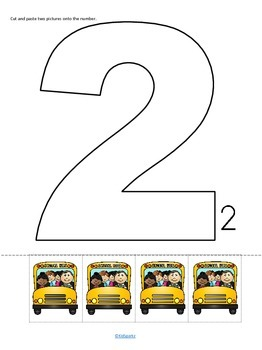 Back to School - Cut and Paste Numbers 1-12