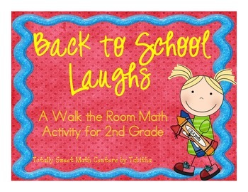 Back to School Laughs- A Math Review and  Joke Walk the Room Gr.2