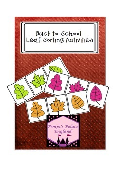 Back to School Leaf Sorting Freebie