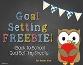 FREEBIE!  Back to School Learning Goal Setting Sheets