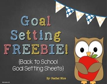 FREEBIE!  Back to School Learning Goal Setting Sheets
