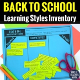 Back to School Learning Style Inventory Activity