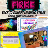 Back to School Learning Styles Inventory Prezi and Handout