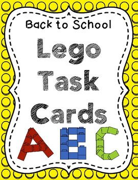 Back to School Lego Task Cards