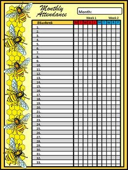 Honey Bee Teacher Binder, Lesson Planner, & Classroom Kit