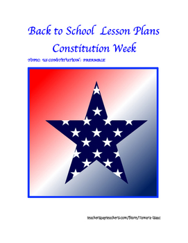 Back to School Lesson Plans (Constitution Week)