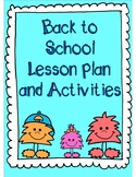 Back to School Lesson Plans and Activities