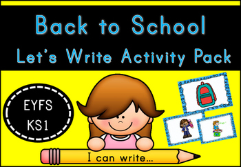 Back to School Let's Write