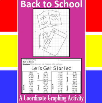 Back to School - Let's Get Started - A Coordinate Graphing