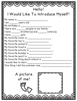 Back to School - Let's Introduce Ourselves