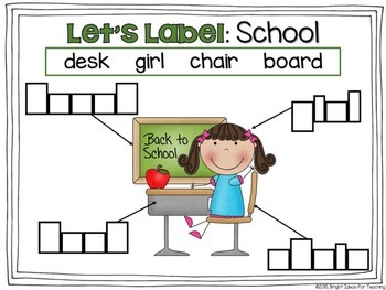 Back to School: Let's Label Mats {Aug/Sept}
