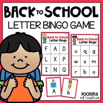 Back to School Letter Bingo