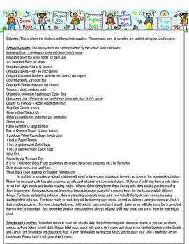 Back to School Letter Editable - Super Kid Theme