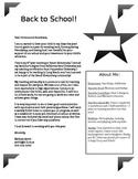 Back to School Letter / Meet the Teacher *Editable*