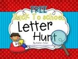 Back to School Letter Hunt FREEBIE!