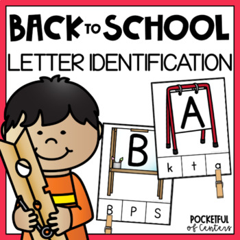 Back to School Letter Match Clip Cards