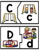 Back to School Letter Match Puzzles Literacy Center for PreK, K, & Homeschool
