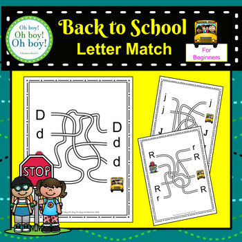 Back to School Letter Match - S