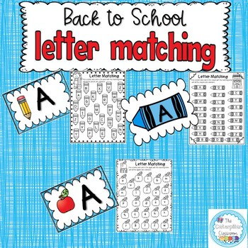 Back to School Letter Matching