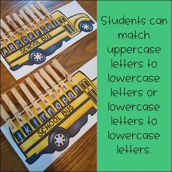 FREE Back to School Letter Matching Center Activity