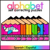 Back to School Letter Matching Puzzles - Spanish