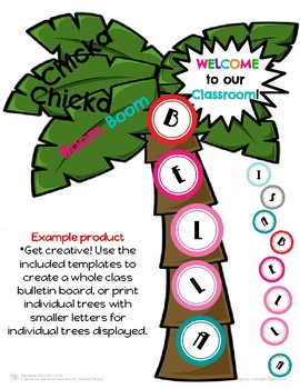 Back to School Letter Name Activity (Chicka Chicka Boom Boom)