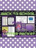 Back to School Letter Packet Freebie