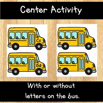 Back to School Letter Practice Activity
