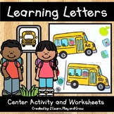 School Bus Letter Practice Activity