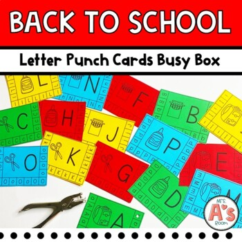 Back-to-School Letter Punch Busy Box