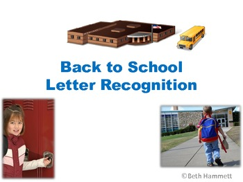 Back to School Letter Recognition