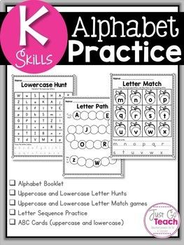 Back to School Letter Skills for Kindergarten