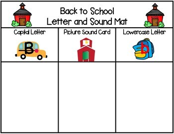 Back to School Letter & Sound Match Game