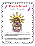 Back to School Letter Template 2