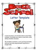 Back to School Letter Template 3