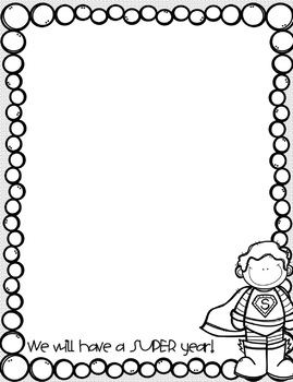 Back to School Letter Templates! Color AND Black and White Versions