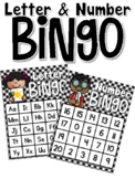 Back to School Letter and Number Bingo