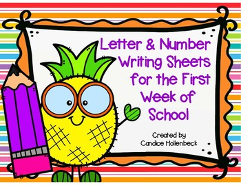 Back to School Letter and Number Writing Assessment Sheets