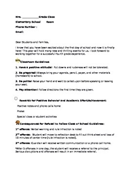 Back to School Letter and Posters
