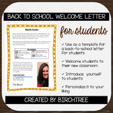 Back to School Letter to Students