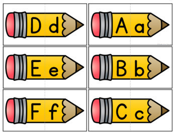 Back to School Letters and Beginning Sounds Puzzles