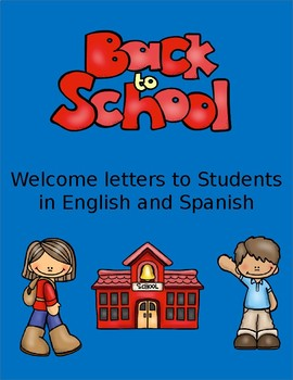 Back to School Letters for Students in English and Spanish