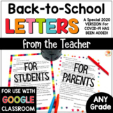 Welcome Back to School Letters Editable | Back to School Letters Parent Student